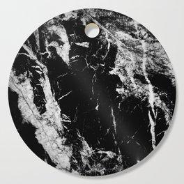 Dark marble black white stone1 Cutting Board