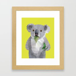 Koala with Koalafication Polygon Art Framed Art Print