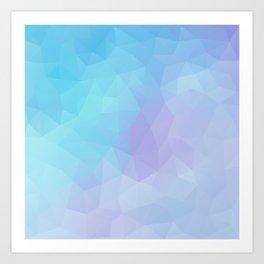 """Fresh sea breeze"" geometric design Art Print"