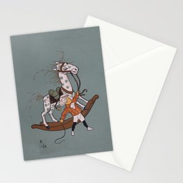 Whipping the Angry Toy Horse Stationery Cards