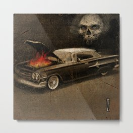 Fire & Spades Impala Metal Print