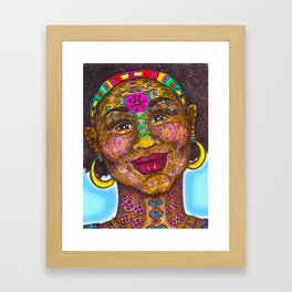 Wisdom Keeper Color #1 (Beauty) Framed Art Print