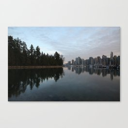 Reflections of Vancouver Canvas Print