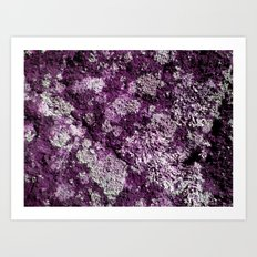 Purple Moss Art Print