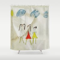sisters Shower Curtains featuring Sisters?  by Ethna Gillespie