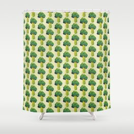 broccoli simple pattern Shower Curtain