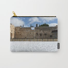 Snowy Jerusalem, Old City, Western Wall Carry-All Pouch