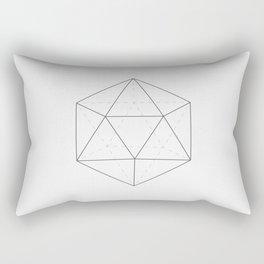 Black & white Icosahedron Rectangular Pillow