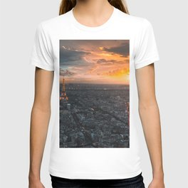 Sunset in the city of love T-shirt