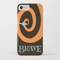 brave iPhone & iPod Cases featuring Brave by Citron Vert