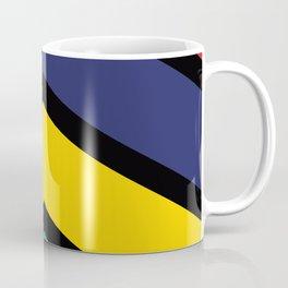 Chevron Mauritius Flag Colors Coffee Mug