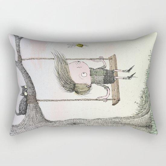 'Boy & Bee' Rectangular Pillow