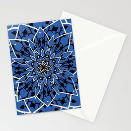 Blue Succulent Star Stationery Cards