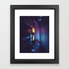 Tokyo Nights / Lonely Lantern / Liam Wong Framed Art Print