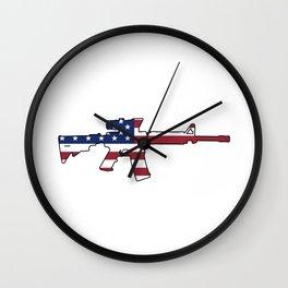 American Flag: M4 Assault Rifle Wall Clock