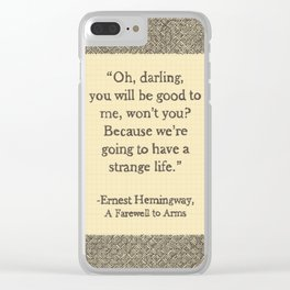 Oh, Darling Clear iPhone Case