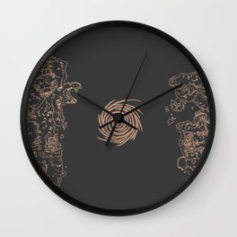 Map of Classic WoW - Vanilla Azeroth (Charcoal) Wall Clock