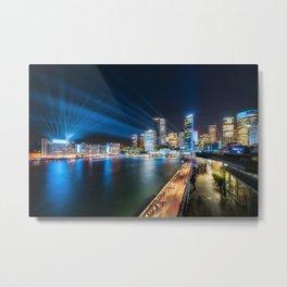 Sydney Skyline dressed in deep blue tones Metal Print
