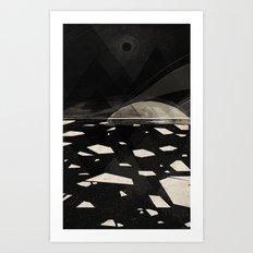 the white shore Art Print