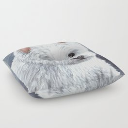 Dog 137 White Westie Floor Pillow