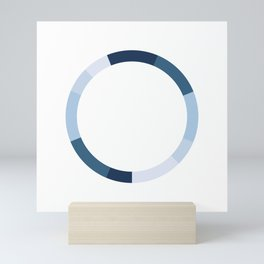 The Monochromatic Series: Blue Color Scheme Mini Art Print