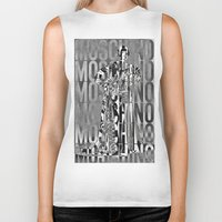 moschino Biker Tanks featuring obsessed moschino by Claudio Velázquez