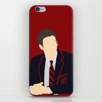 glee iPhone & iPod Skins featuring Sebastian Smythe - Grant Gustin - Glee - Minimalist design by Hrern1313