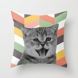 GEOKitten Throw Pillow