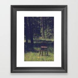 Sitting Elsewhere Framed Art Print
