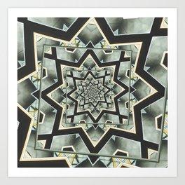 Angles Around And Again Art Print