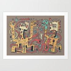 Le duel des Thaumaturges (color version) Art Print