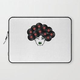 Vinyl Records Afro Hair Black Woman Laptop Sleeve