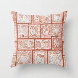 Stamp mania Throw Pillow
