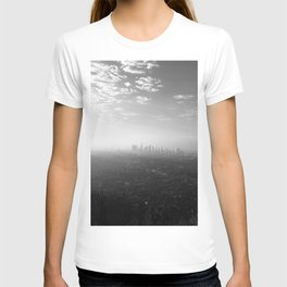 Los Angeles. L.A. Skyline. Black and White. Jodilynpaintings. Sunrise. Sunset. Cityscape. California T-shirt