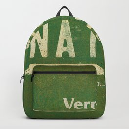 Vermont Native License Plate Backpack