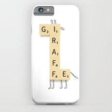Giraffe Scrabble iPhone 6s Slim Case