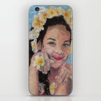 child iPhone & iPod Skins featuring child by Caterina Zamai
