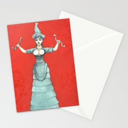 Snake Goddess Stationery Cards