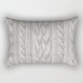Cable Knit Rectangular Pillow
