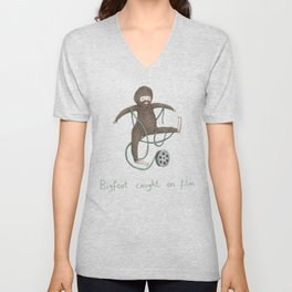 Bigfoot Caught on Film Unisex V-Neck