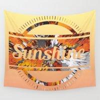 sunshine Wall Tapestries featuring Sunshine by MehrFarbeimLeben