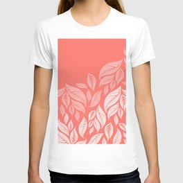LIVING CORAL LEAVES T-shirt