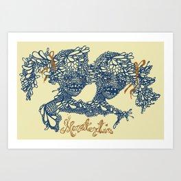 Siamese Monster Art Print