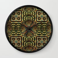 stargate Wall Clocks featuring Stargate - Mayan Edition by Lyle Hatch