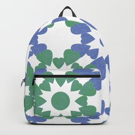 abstract background with flower and hearts Backpack