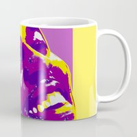 lakers Mugs featuring Swaggy by SUNNY Design