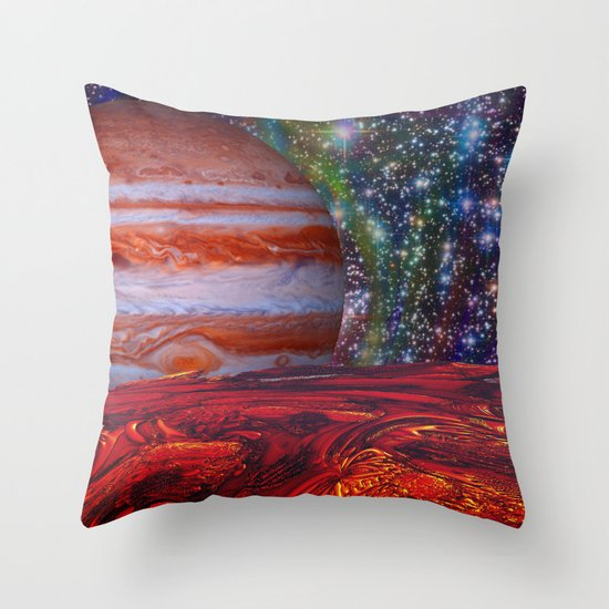 Looking At Jupiter Throw Pillow