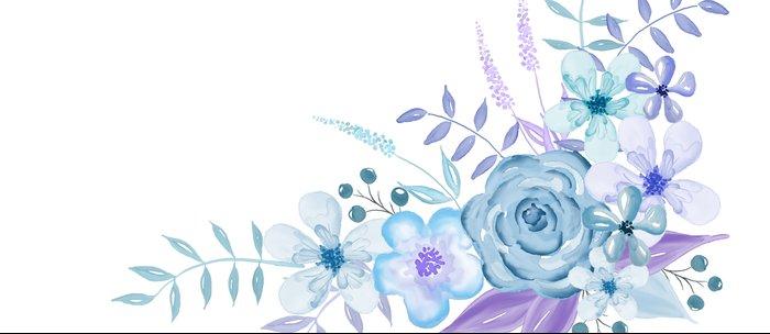 Watercolor Flowers Blue And Purple Coffee Mug