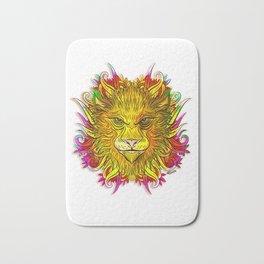 Golden Flower Lion Bath Mat