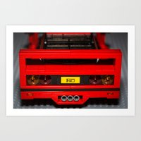 F40 Rear Art Print